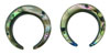 Large Gauge Abalone Shell Captive Hoops (SKU: ACBR)