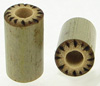 Large Gauge Bamboo Cylinder Plugs, Burnt Cilia Designs (SKU: BCP-B5)