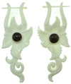 Thorn Style Bone Earrings, Hanging Jungle Flower (SKU: BE29)