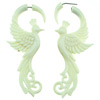 Bone Fake Gauge Peacock Earrings (SKU: BF-5)