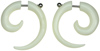 Steel Post Bone Fake Gauge Spiral Earrings (SKU: BH100)