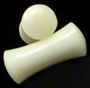 Large Gauge Solid Bone Saddle Plugs (SKU: BS)