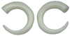 C-Taper Bone Pincher Hoop Gauge Earrings (SKU: BSP-C)