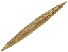 Large Gauge Coconut Wood Straight Septum Spike (SKU: CWLSS)