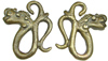Dayak Brass Dragon Ear Weights (SKU: DBW-11)