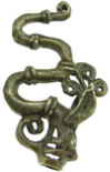 Dayak Brass Fire Dragon Pendant (SKU: DBW-14-P)