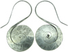 Karen Tribe Silver Hanging Flat S Spiral Earrings (SKU: E49)