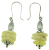 Sterling Silver Butterscotch Baltic Amber Bead Hanging Earrings (SKU: E95)