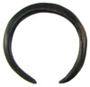 Large Gauge Ebony Wood Septum Ring (SKU: ESR)
