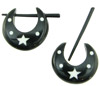 Thorn Style Horn Pincher Hoop Star Earrings (SKU: H26)