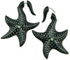 Hanging Horn Starfish Fake Gauge Earrings (SKU: H66-F)