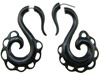 Fake Gauge Lacy Horn S Hook Earrings (SKU: HF-8)