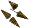 Coconut Wood Spiked Fakie Earrings (SKU: HFS-C)