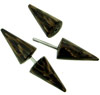 Palm Wood Spiked Fakie Earrings (SKU: HFS-P)