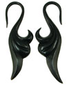 Large Gauge Horn Swan Hook Earrings (SKU: HHK6)