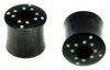 Hollow Horn Saddle Plugs, Bone Berber Dots (SKU: HHSBBD)