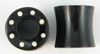 Hollow Horn Saddle Plugs, Dots (SKU: HHSD)