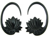 Large Gauge Horn Lotus Hook Earrings (SKU: HLH)