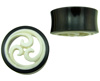 Hollow Horn Saddle Plugs, Triple Wave Carved Bone Inlays (SKU: HP-BW)