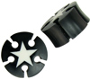 Horn Saddle Plugs, Holes, Stars, 1 inch (SKU: HPHS-1i)