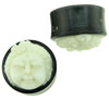 Large Gauge Horn Saddle Plugs, Bone Krishna Face Inlays (SKU: HS-K)