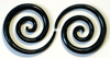 Home Girl Horn Spiral Gauge Earrings (SKU: HSHG)