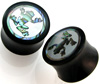 Horn Saddle Plugs, Frog Shell Inlays, 5/8 inch (SKU: HSSI-F-58)