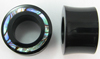 Hollow Horn Saddle Plugs, 2-sided Paua Abalone Shell Inlays (SKU: HSSI-HP)