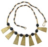 Kenya Wood and Metal Beaded Necklace (SKU: N18)