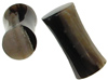 Large Gauge Petrified Wood Saddle Plugs (SKU: PWS)