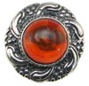 Sterling Silver Baltic Amber Sun Ring (SKU: R50)