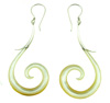 Sterling Silver and Mother of Pearl Shell Spiral Earrings (SKU: SE-1)