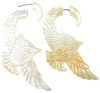 Mother of Pearl Shell Owls Fake Gauge Earrings (SKU: SF-1)