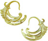 Large Gauge Mother of Pearl Shell Winged Hook Earrings (SKU: SH1)