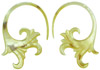 Mother of Pearl Shell Fancy Hook Earrings, 10 - 2 gauge (SKU: SH10)