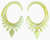 Mother of Pearl Shell Lacy Hook Earrings, 11 gauge - 2 gauge (SKU: SH16)