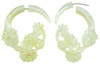 Mother of Pearl Shell Lily Pad Fakies Earrings (SKU: SHL-F)