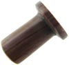 0 Gauge Striped Brown Stone Labret Plug (SKU: SSL)