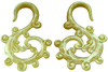 Mother of Pearl S Vine Spiral Earrings, 6 gauge - 13 gauge (SKU: SSSV)