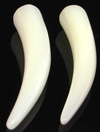 Large Gauge Mother of Pearl Shell Talons (SKU: STMOP)