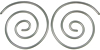 Sterling Silver Compact Spiral Earrings