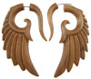 Fake Gauge Sawo Wood Seraphim Wing Earrings (SKU: WF05)
