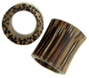 Large Gauge Hollow Coconut Wood Saddle Plugs (SKU: WHS-C)