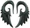 Large Gauge Horn Seraphim Wing Earrings (SKU: WSH5H)