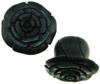 Large Gauge Ebony Wood Flower Lobe Plugs (SKU: AWP1)