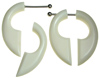 Steel Post Bone Fake Gauge Insect Pincer Earrings (SKU: BF-2)