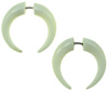 Bone Fake Gauge Captive Hoop Earrings (SKU: BF03)