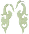 Bone Fake Gauge Fan Hook Earrings (SKU: BF04)