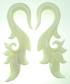 Bone Hook Bird Tail Gauge Earrings (SKU: BH15)