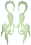 Large Gauge Hanging Bone Tied Feather Hook Earrings (SKU: BH6)